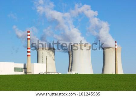 Nuclear power plant, Dukovany, Czech Republic - stock photo