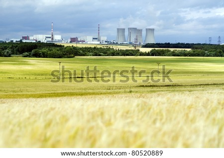 Nuclear power plant Dukovany in Czech Republic, European Union. - stock photo