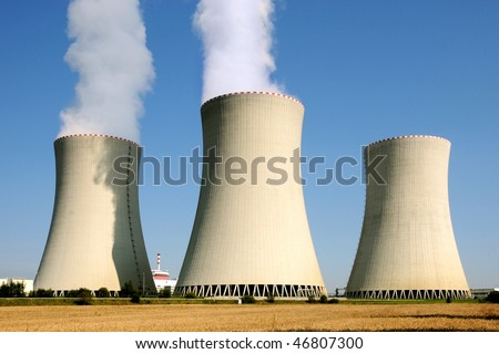 Nuclear power plant in Temelin (Czech Republic) - stock photo