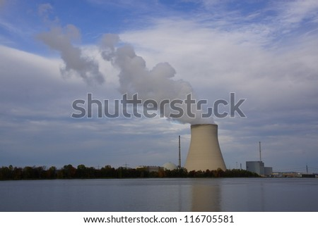Nuclear power plant next to a river