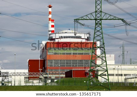 Nuclear power plant reactor - stock photo