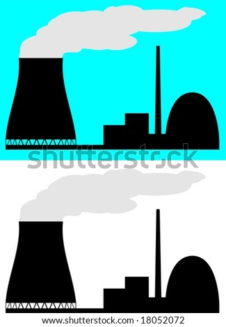 Nuclear Power Plant Silhouette Icon Clipart Stock Vector 18052069 ...