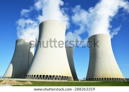 Nuclear power plant Temelin, Czech Republic - stock photo