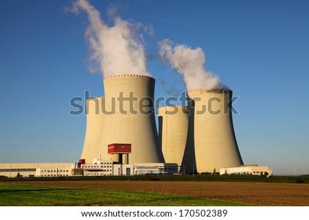 Nuclear power plant Temelin in Czech Republic Europe - stock photo