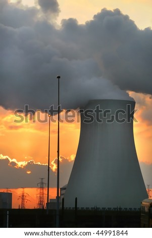 Nuclear Power station Antwerp Belgium - stock photo