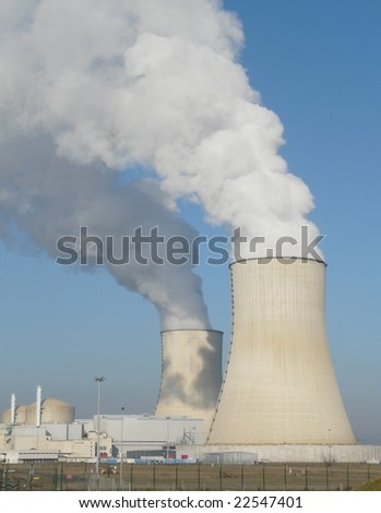 Nuclear power station cooling towers