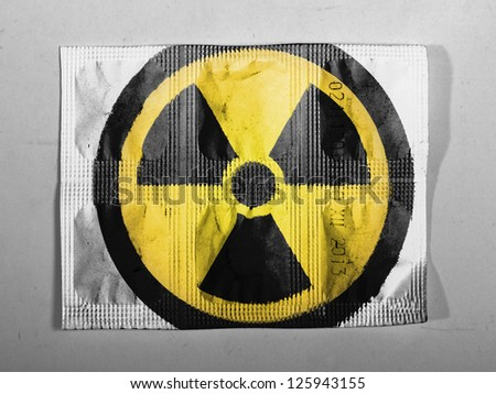 Nuclear radiation symbol painted on painted on pills