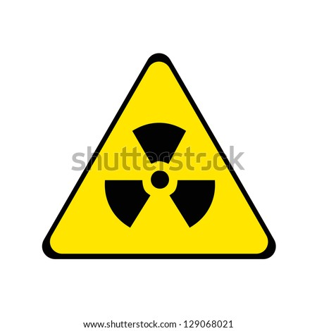 Nuclear radiation warning sign. - stock photo