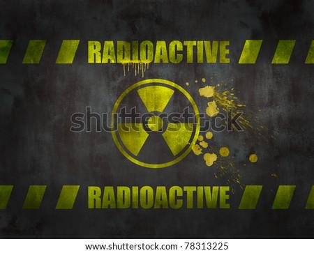 nuclear symbol - stock photo