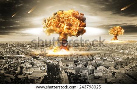 Nuclear War - stock photo