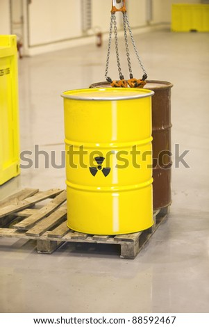 Nuclear waste - stock photo