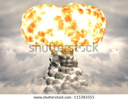 Nuclear weapon - stock photo