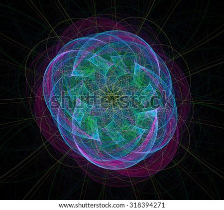 Nucleus abstract illustration - stock photo