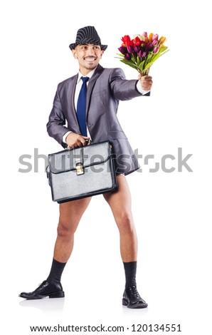 Photos of naked businessmen