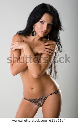 nude girl - stock photo