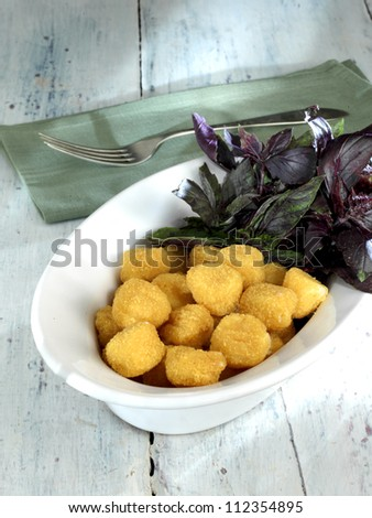 nugget plate - stock photo