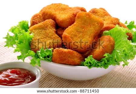 Nuggets Closeup - stock photo
