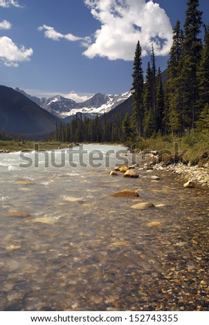 Numa Creek in Kootenay National Park in British Columbia, western Canada.