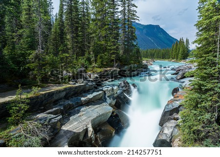Numa Falls at the Kootenay National Park  - stock photo
