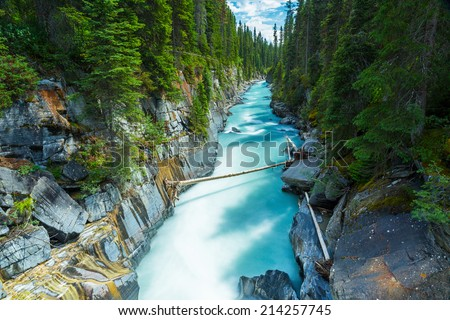 Numa Falls at the Kootenay national park Canada  - stock photo