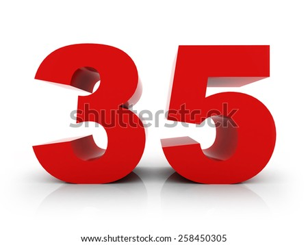 number 35 - stock photo