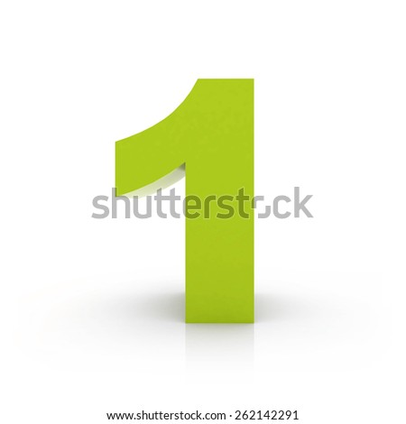 number 1 - stock photo