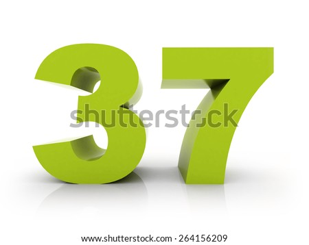 number 37 - stock photo