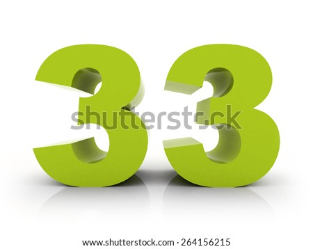 number 33 - stock photo