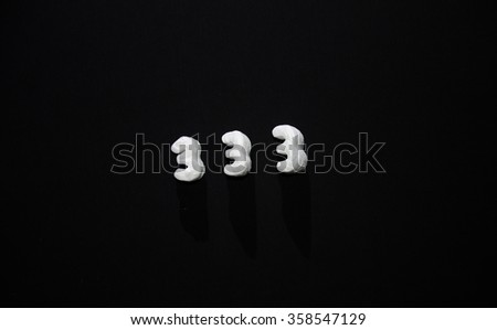Number 333 - stock photo