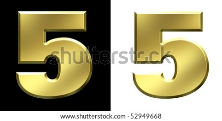Number 5 - stock photo