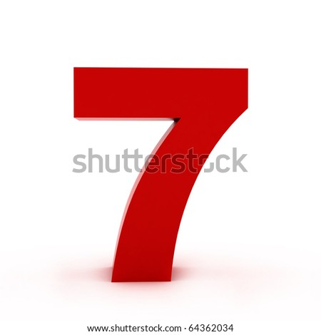 number 7 - stock photo