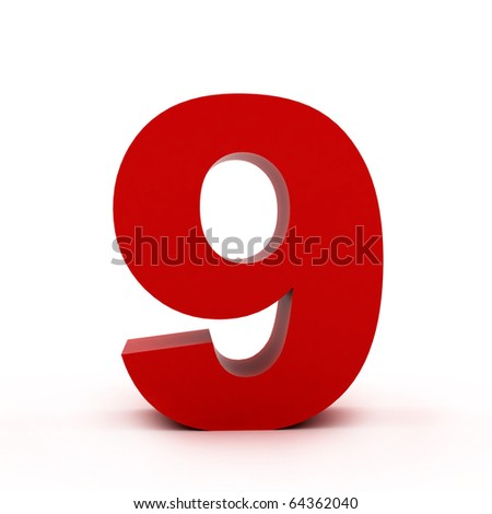 number 9 - stock photo
