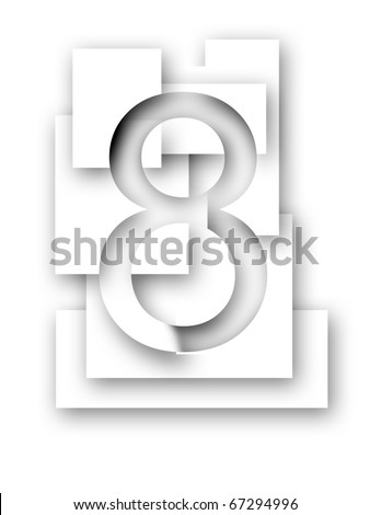 Number 8 - stock photo
