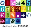 Number Alphabet 2  Use this signs and my two other Letters alphabet like this in my portfolio! - stock photo
