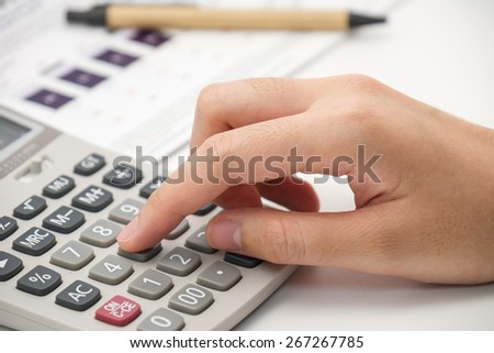 Number calculating for office or business background