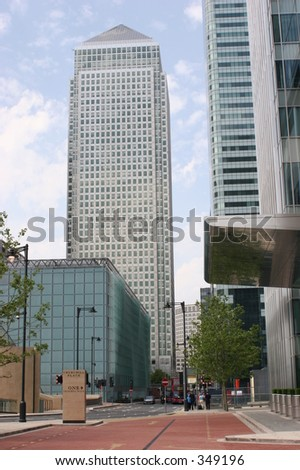 Number 1 Canada Square, Canary Wharf, Docklands - stock photo