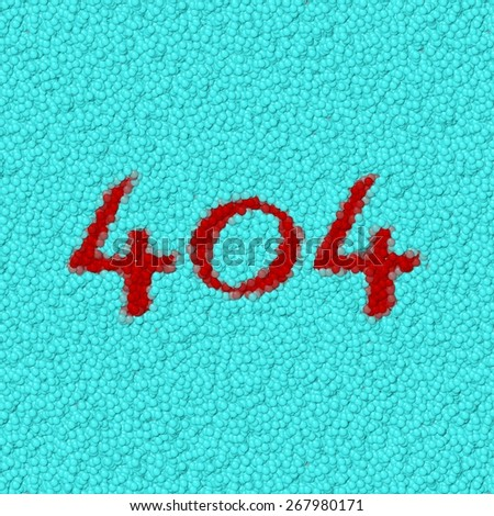 Number 404 composed of colorful small balloons - stock photo