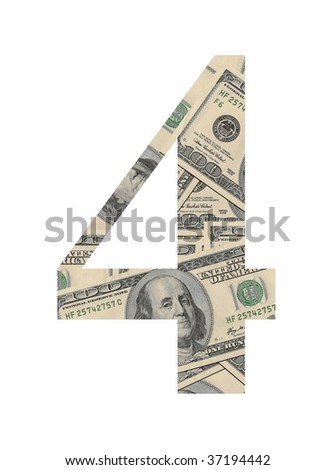 Number 4 (dollars background)