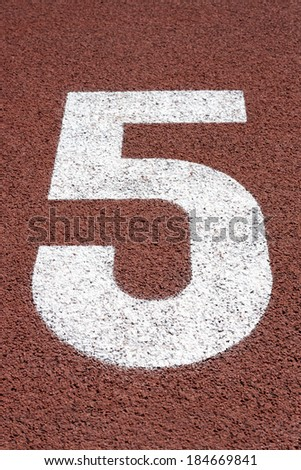 Number  Five in running track