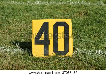 number forty 40 yard line marker - stock photo