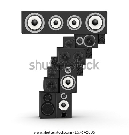 Number 7 from black woods hi-fi speakers sound systems - stock photo