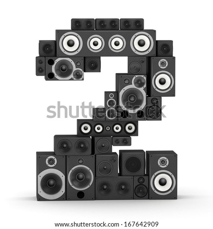 Number 2 from black woods hi-fi speakers sound systems - stock photo