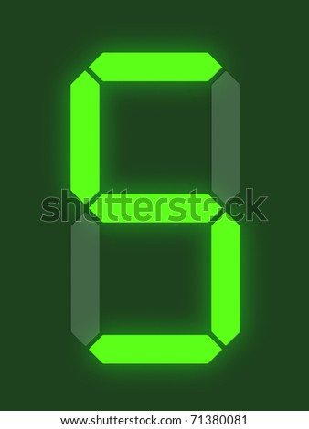 Number 5 from digital display series - stock photo