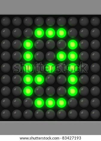 Number 0 from green creeping line alphabet - stock photo