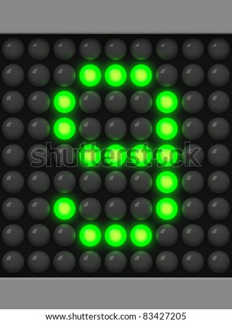 Number 9 from green creeping line alphabet - stock photo