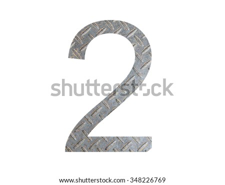 Number from  metal wall