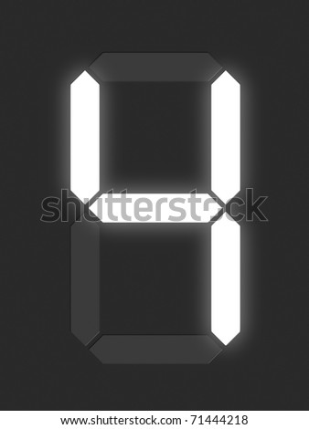 Number 4 from white digital display series - stock photo