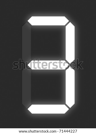 Number 3 from white digital display series - stock photo