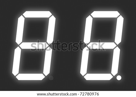 Number 8 from white digital display set - stock photo