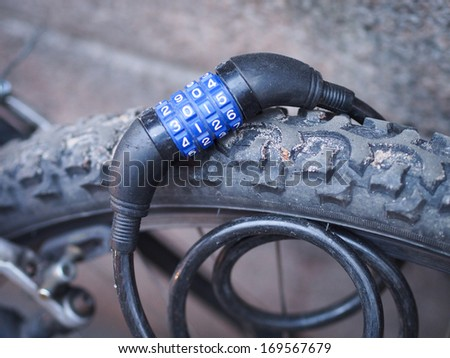 Number Lock on a Bike